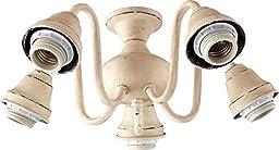 Quorum-Five Light Persian White Fan Light Kit-2530-8070