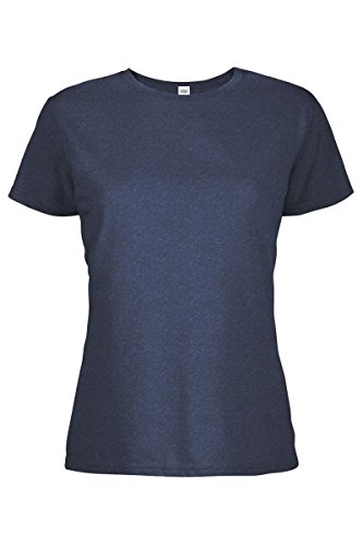 Casual Garb Women's Crew Neck Short Sleeve Tee T-Shirts for Women Denim Heather Large