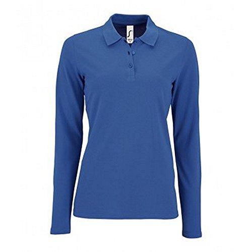 SOL'S Womens/Ladies Perfect Long Sleeve Pique Polo Shirt (L) (Royal Blue)