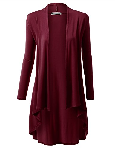 URBANCLEO Womens Draped Cardigan Sweater