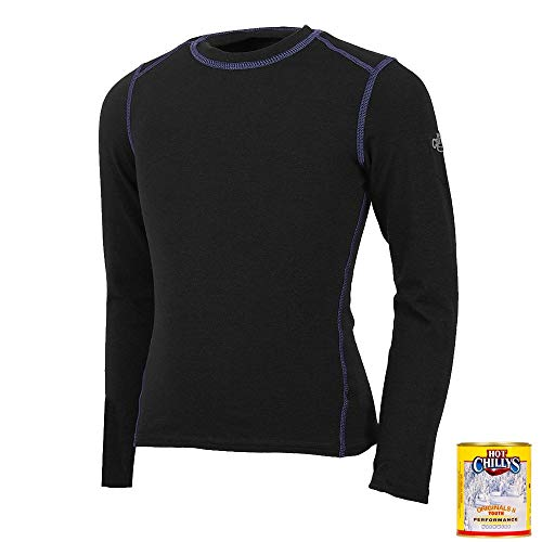 Hot Chillys Youth Orignals II Top (Black, Large)