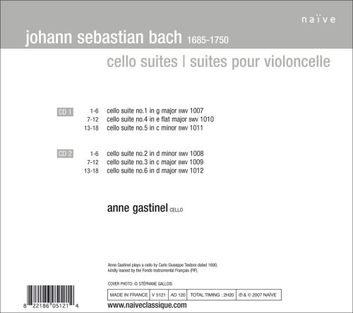 Js bach anne gastinel cello suites amazon music fandeluxe Images