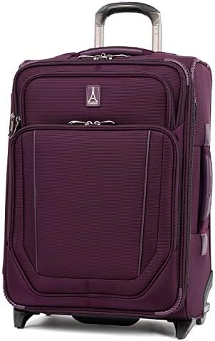 Travelpro Crew Versapack-Softside Expandable Upright Luggage, best Plum, Carry-On 21-Inch
