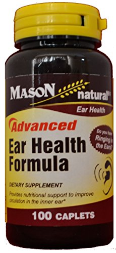 Mason Natural Advance Ear Health Formula Bioflavonoids Plus 100 Caplets per Bottle