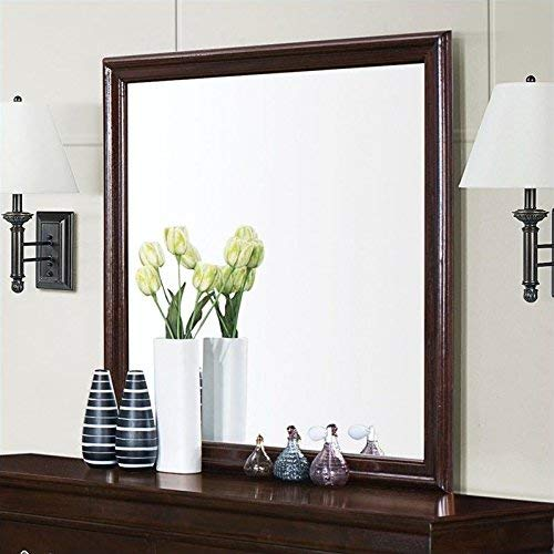 Coaster Home Furnishings Louis Philippe Square Mirror, Cappuccino (Mirror With Dresser Tall)