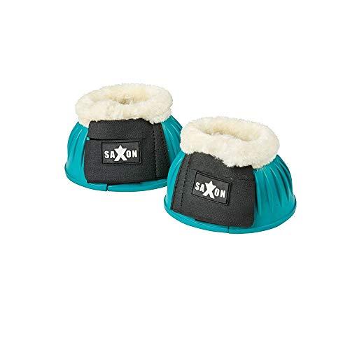 (Saxon Fleece Trim Rubber Bell Boots (Full) (Turquoise/White))