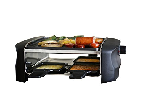 Milliard Raclette Grill for Four People, Includes Reversible
