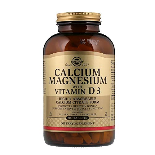 Calcium Citrate Form Highly Absorbable Magnesium with Vitamin D3 Healthy Bones 300 Tablets