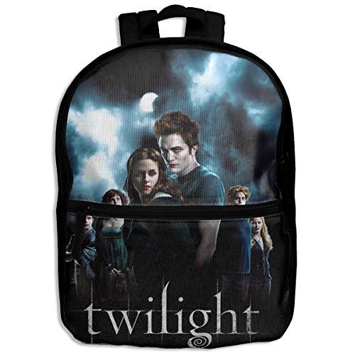 Moniyo Fashion School Backpack The Twilight Saga Outdoor Casual Shoulders Multipurpose Backpack Travel Bags for Children,Kids Black
