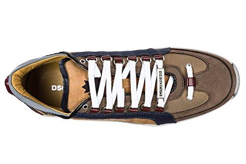 Dsquared2 Herrenschuhe Herren Leder Schuhe Sneakers 551 Braun
