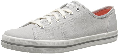 Keds Athletic Sneakers - Keds Women's Kickstart Chambray Stripe Fashion Sneaker,Drizzle Gray,6 M US