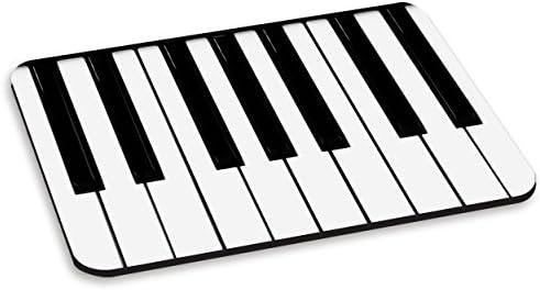 Teclas de PIANO teclado computadora de la PC alfombrilla para ratón - curiosa Música blanco y negro