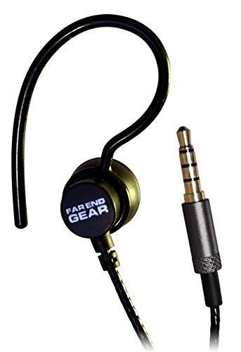 XDU Recon Single Stereo-to-mono Earhook Earphone, Reinforced Cord