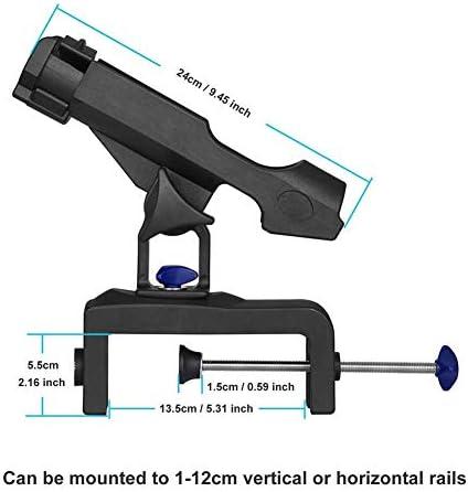 Sbeautli Raft Angeln Boot Angeln Halterung Guardrail Pole Rahmen Yacht Angelrute Halterung Pole Rahmen Angeln Ausrüstung Zubehör Angelrutenhalter