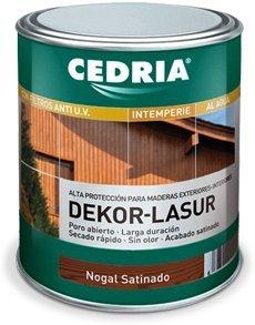 Lasur protector madera exterior al agua Cedria Dekor Lasur 750 ml (É bano)