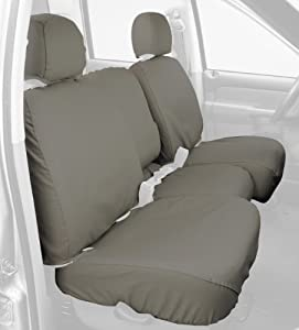 Covercraft Custom-Fit Front Bench SeatSaver Seat Covers - Polycotton Fabric, Misty Grey