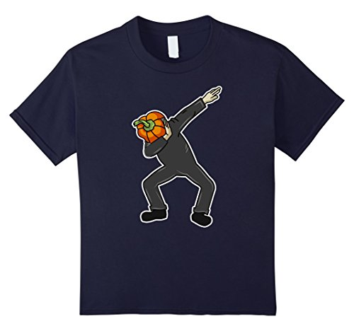 Do It Yourself Halloween Costumes Zombie (Kids Pumpkin Man Dab Shirt In Action Let's Dab Halloween T-Shirt 12 Navy)