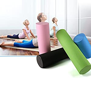Foam Roller Premium High Density High Density Yoga/fitness Roller EVA Yoga Pilates Solid Glossy Yoga Column Roller for Physical Therapy, Muscle Massage, Balance Exercises Fitness Gym