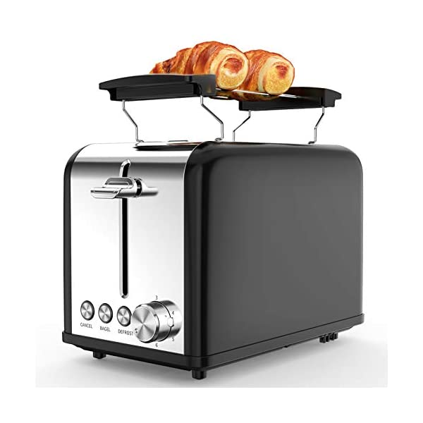 Tostapane 2 Fette, Tostapane per Toast 6 Livelli di Tostatura morpilot Tostapane Funcioni di Automatico Riscaldamento… 1