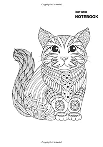 Gridded Dot Notebook Cats Journal Diary Notebook Adult Coloring Page Cat Diy Self Notebook Cover 110 Pages 55 Sheets 7 X 10 Inches Large Dotted Pages Long Stephen 9798678964175 Amazon Com Books