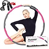 Auoxer Fitness Exercise Weighted Hula Hoop, Lose Weight Fast by Fun Way to Workout, Fat Burning Healthy Model Sports Life, Detachable and Size Adjustable Design