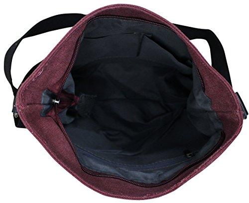 PiriModa - Bolso al hombro de Otra Piel para mujer Multicolor multicolor Modell 3 Bordaux/Grau 2