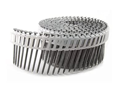 B&C Eagle 112X092HDRPC Round Head 1-1/2-Inch x .092 x 15 Degree Hot Dip Galvanized Ring Shank Plastic Collated Coil Nails (6,000 per box) by B & C Eagle