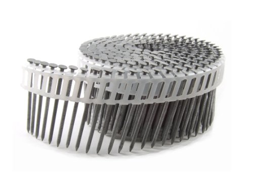 B&C Eagle A212X092HDRPC Round Head 2-1/2-Inch x .092 x 15 Degree Hot Dip Galvanized Ring Shank Plastic Collated Coil Framing Nails (800 per box)