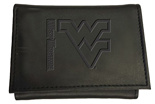 Team Sports America Leather West Virginia Mountaineer Tri-fold Wallet