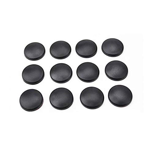 TOOGOO 12Pcs New Trim Stickers Practical Cover Car Interior Anti-Rust Cap Door Lock Screw Protector,Black by TOOGOO (Image #8)