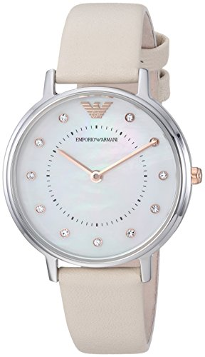 1a74c18300d Emporio Armani Women s  Kappa  Quartz and Stainless-Steel-Plated Casual  Watch