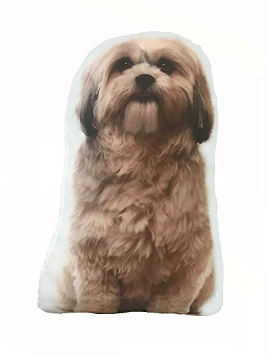 Dog Themed Decorative Accent Pillow, Bearded Collie Tibetan Terrier, Approx 14