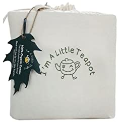 I'M A LITTLE TEAPOT - Is a little Australian company with a big heart. We support clean, chemical free living. WE LOVE COTTON! WE LOVE ORGANIC! Organic cotton is both eco-friendly and hypoallergenic. Our cotton is not genetically engineered a...