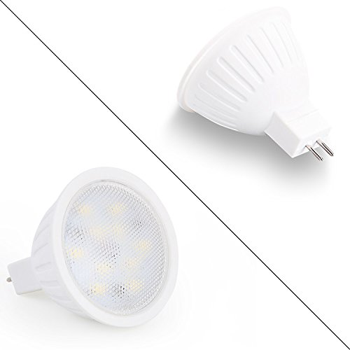 office library 5000K Daylight White 7W 700LM 65W Halogen Bulbs Equivalent meeting room,Pack of 10 MR16 led Light bulbs With GU5.3 base hotel restaurant Non-Dimmable Spotlight For living room
