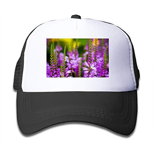Z Cheing Growing Wisteria Flowers Boy and Girls Mesh Baseball Cap Kids Truckers Hats Black