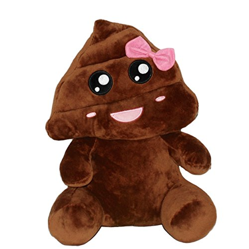 Girl Poop Emoji Plush Doll
