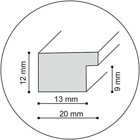 Format 20x30 Wei/ß Artepoint Holz Bilderrahmen Natur von 9x13 bis 40x50 Querformat und Hochformat zum Aufh/ängen und Aufstellen Rahmen KIEFERNHOLZ Farbe