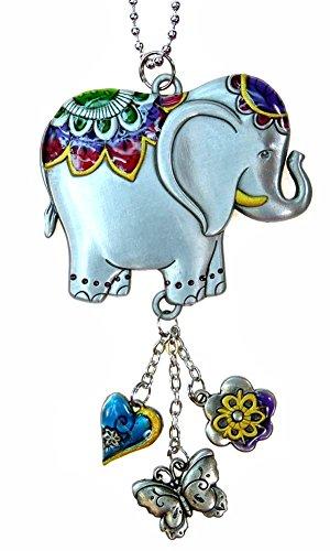 Car Charm - Color Art Lucky Elephant (Art Elephant Metal)