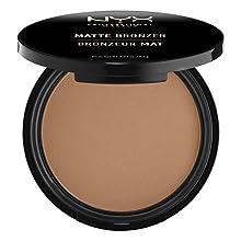 NYX Professional Makeup - Polvos Bronceadores Compactos Matte Bronzer, Fórmula vegana con Acabado Mate - Tono Medium