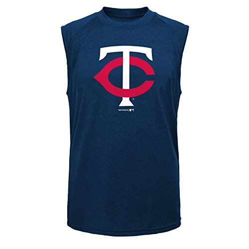 Outerstuff MLB Minnesota Twins Youth Boys Position Sleeveless Tee, Athletic Navy, XX-Large 18 - Mlb Sleeveless