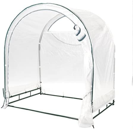 TrueShelter GH64 Portable House, Small, White Green Silver