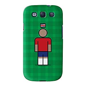 Costa Rica Full Wrap High Quality 3D Printed Case for Samsung? Galaxy S3 by Blunt Football International + FREE Crystal Clear Screen Protector