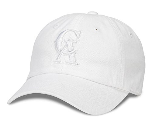 California Angels American Needle MLB Tonal Ballpark Cotton Twill Adjustable Dad Hat (Snow (Angels Baseball Hat)