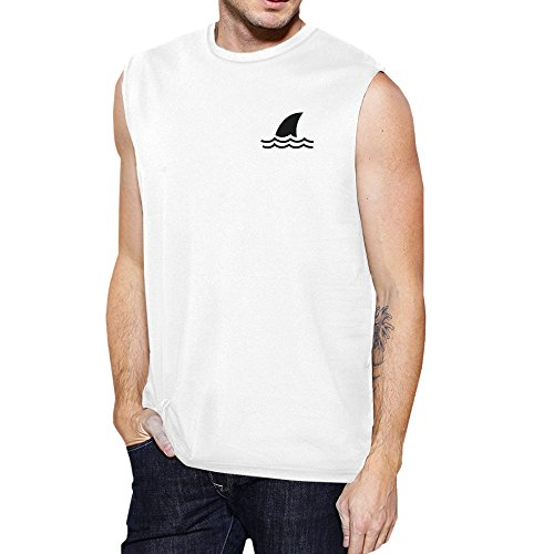 Homme Muscle 365 White Shark Mini Unique Printing Pull Top Taille Sans Manche fIxq1OwvI