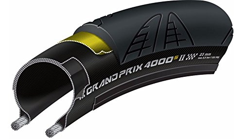 Continental Grand Prix 4000s II Cycling Tire, Black Set of 2 Tires, 700 x 23C