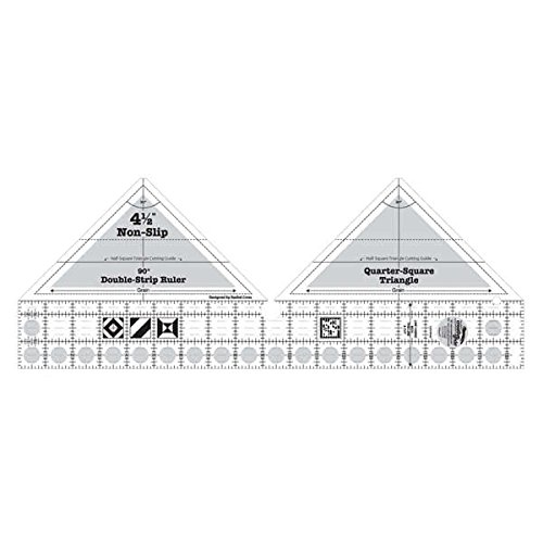 Creative Grids 90 Degree Double Strip Quilting Ruler Template CGRDBS90