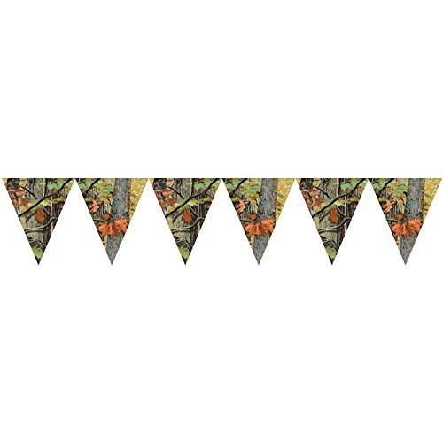 - Creative Converting 1 Piece Hunting Havercamp Camo Hanging Flag Banners - 10 Feet Long Southern Birthday Celebration Party Decorations Supplies