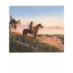 Wallpaper Border Native American Indians on Desert Ridge