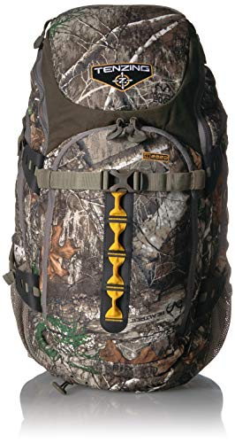 TENZING 2220 Hunting Backpack with Rain Fly Cover, Realtree Edge Camo