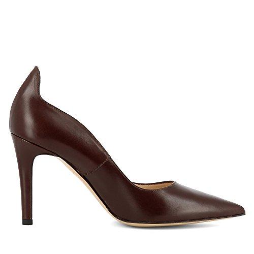 Evita Shoes Natalia Damen Pumps Glattleder Dunkelbraun